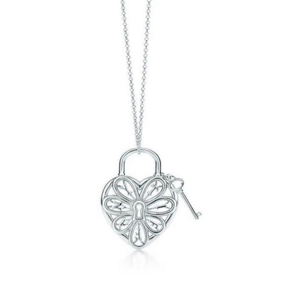 Tiffany Co Jewelry Tiffany And Co Filigree Lock And Key Necklace Poshmark